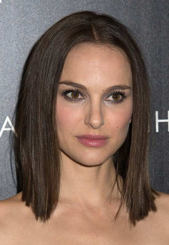 Natalie-Portman Short Brown Hairstyles