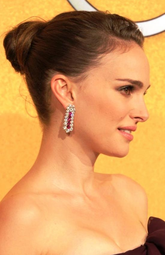 Natalie Portman Updos for Short Hair