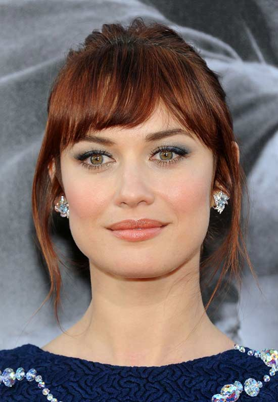 Olga-Kurylenko Short Brown Hairstyles