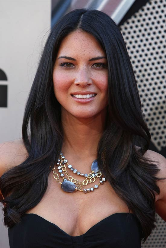 Olivia Munn Shoulder Length Layered Hairstyles