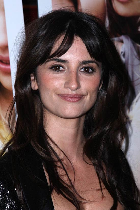 Penelope Cruz Long Layered Hairstyles