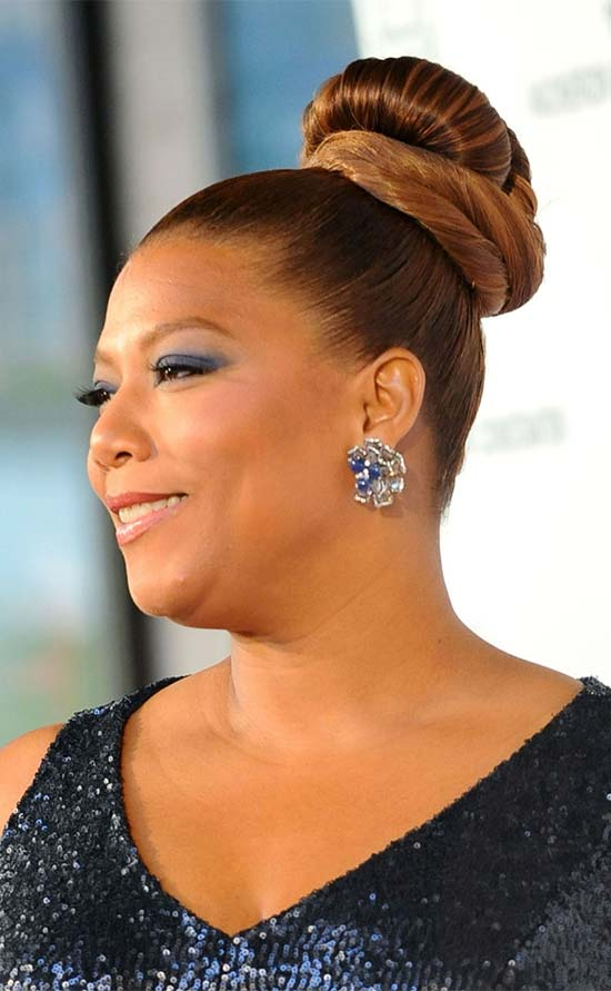 Queen latifah Bun Hairstyle