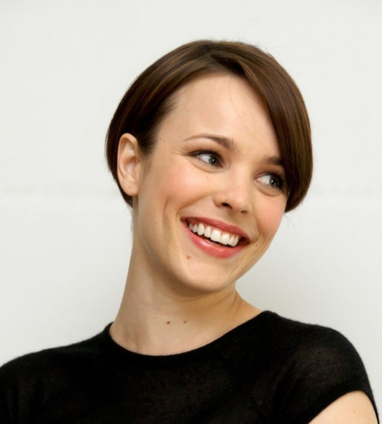 Rachel-McAdams Short Brown Hairstyles