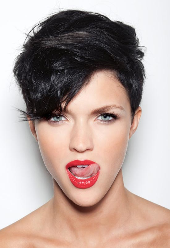 Ruby Rose long Pixie Hair