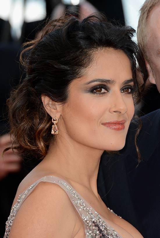 Salma Hayek Updos for Short Hair