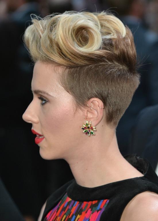 Scarlett Johansson Punky Quiff Blonde Hair