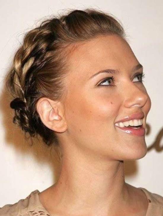 Scarlett Johansson Updos for Short Hair