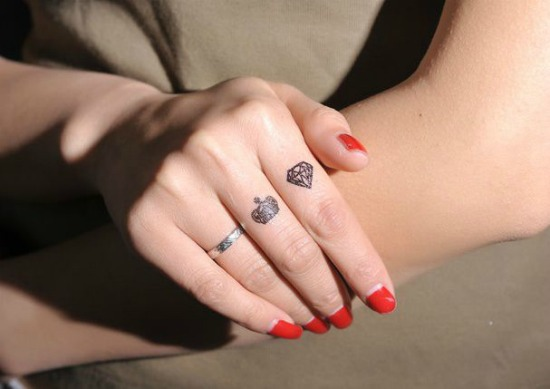 Small Finger Tattoo Design