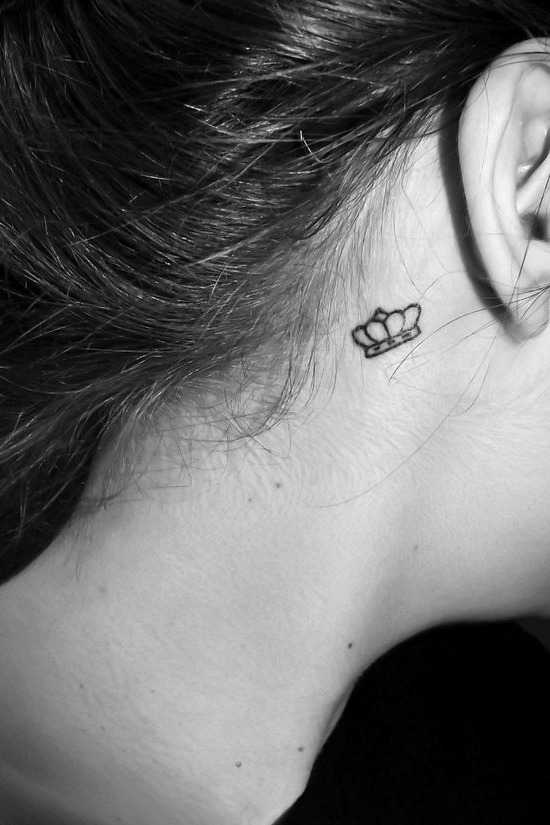 65 cute and inspirational small tattoos their meanings for Small behind the ear tattoos for girls