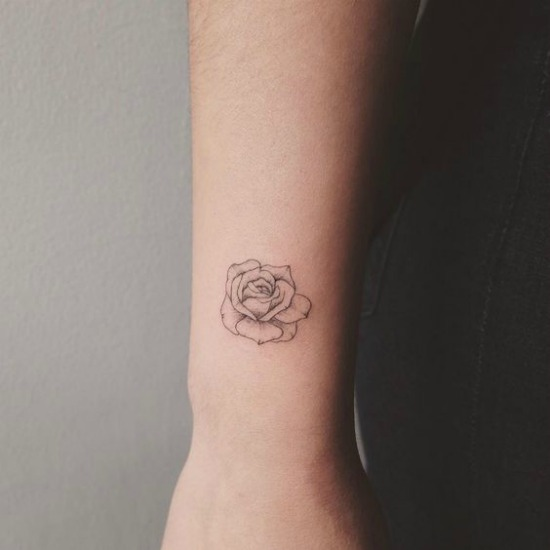 Tattoo Of Rose Small: 65 Cute And Inspirational Small Tattoos & Their Meanings