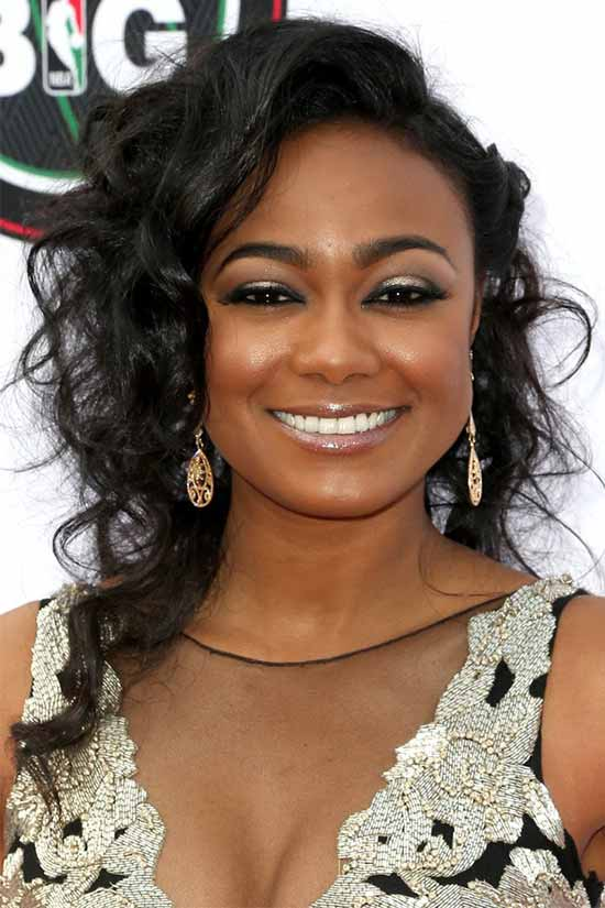 Tatyana Ali Medium Curly Hair