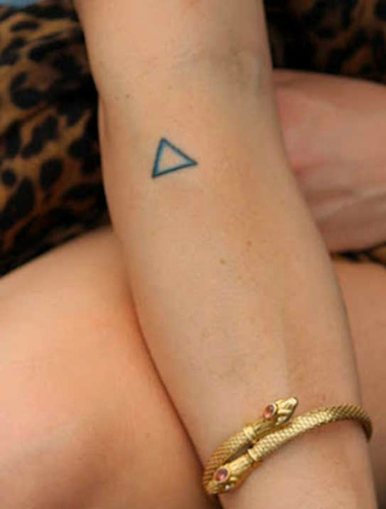Tiny Triangle Tattoo Design