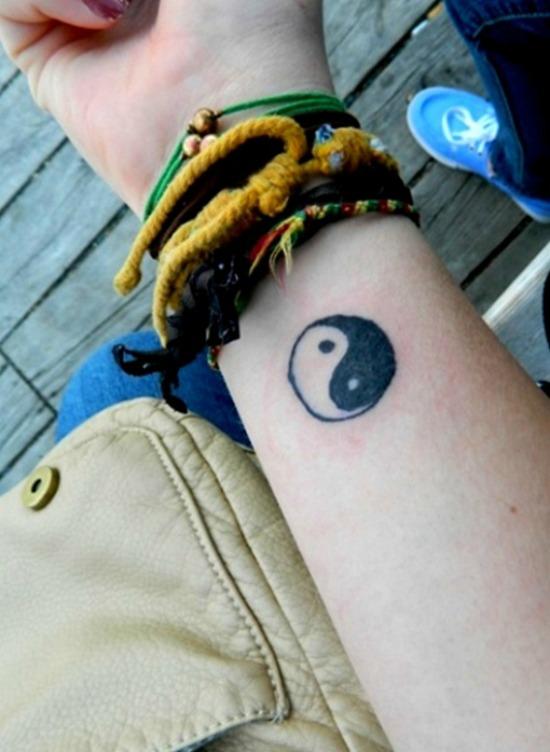Yin Yang Tattoo on Arm