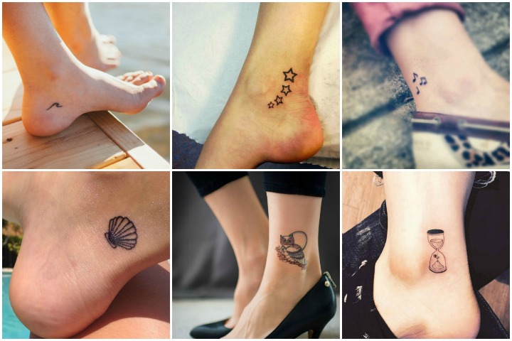 Small tattoos for women on ankle
