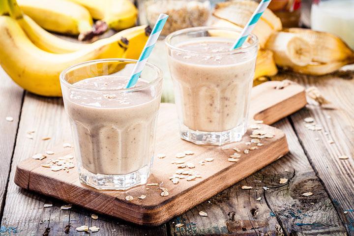 banana oatmeal detox smoothie