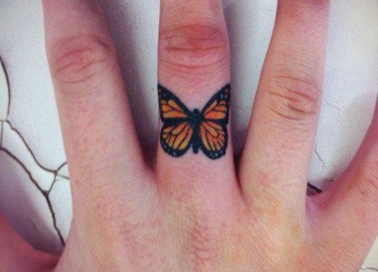 butterfly tattoos on finger