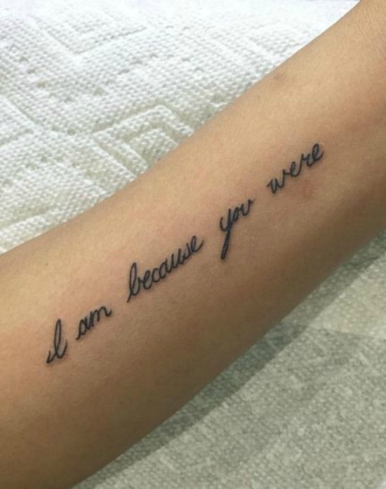 i am because you were