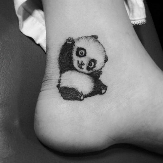 kung fu panda ankle tattoo