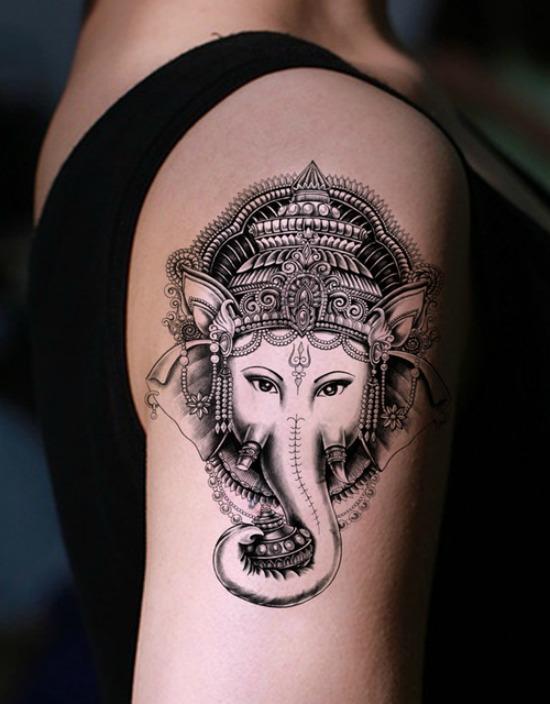 lord ganesh tattoo on arm