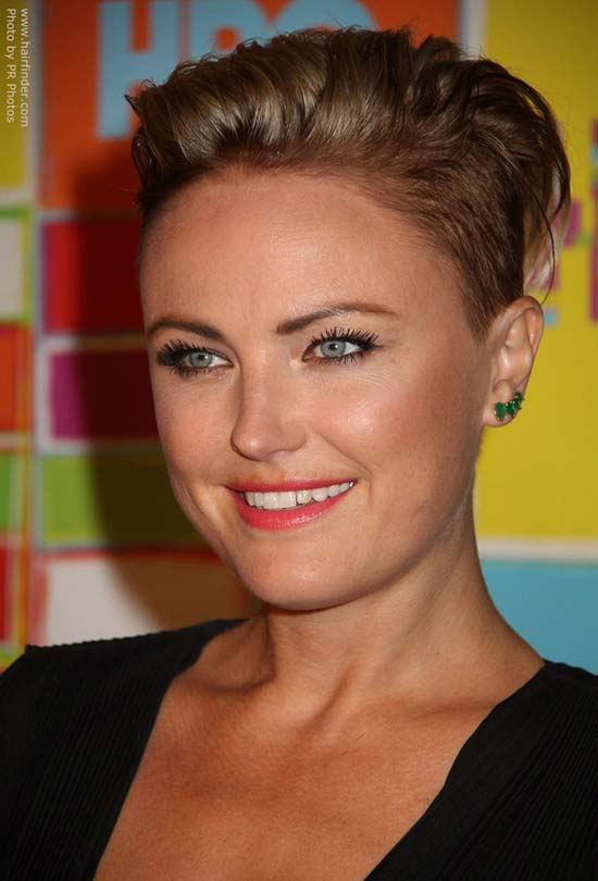 malin akerman Pixie Cut for Round Face