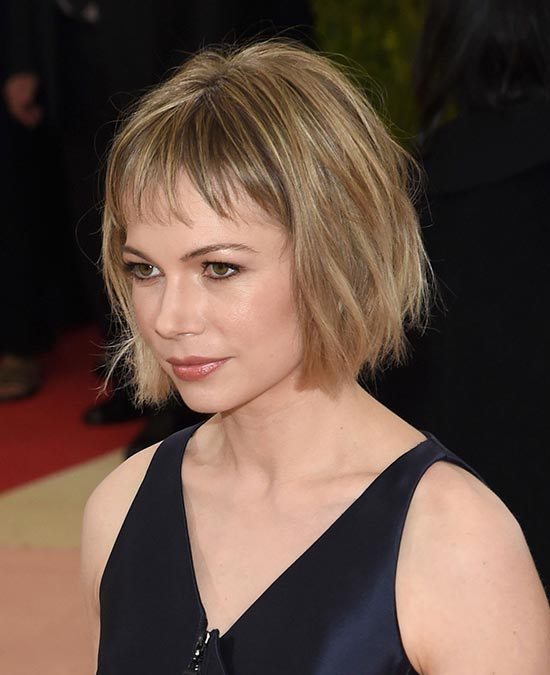 michelle williams met ball hair