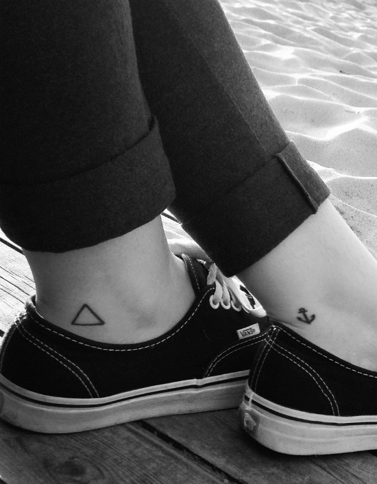 triangle ankle tattoo