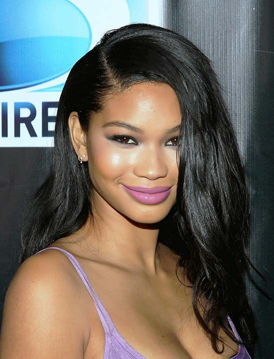 Chanel Iman weave-middle-part-hairstyles