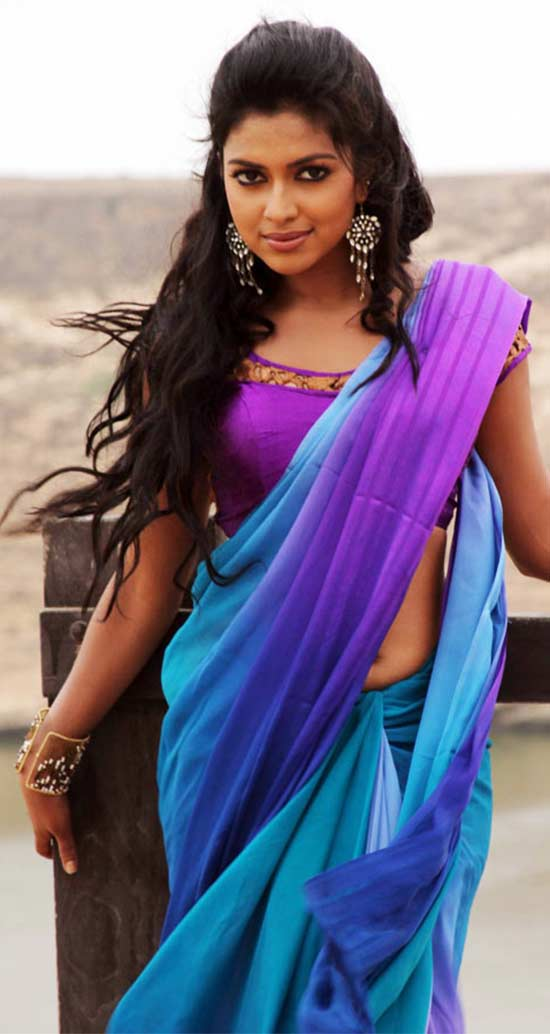 Amala Paul In Multicolor Silk-Saree