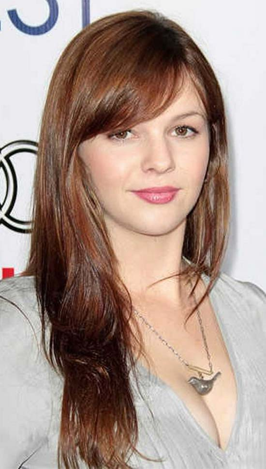 Amber Tamblyn Long hair with Bang