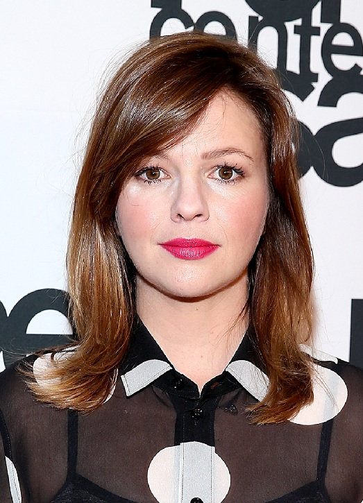 Amber Tamblyn Shoulder Length Hair with Front Bangs