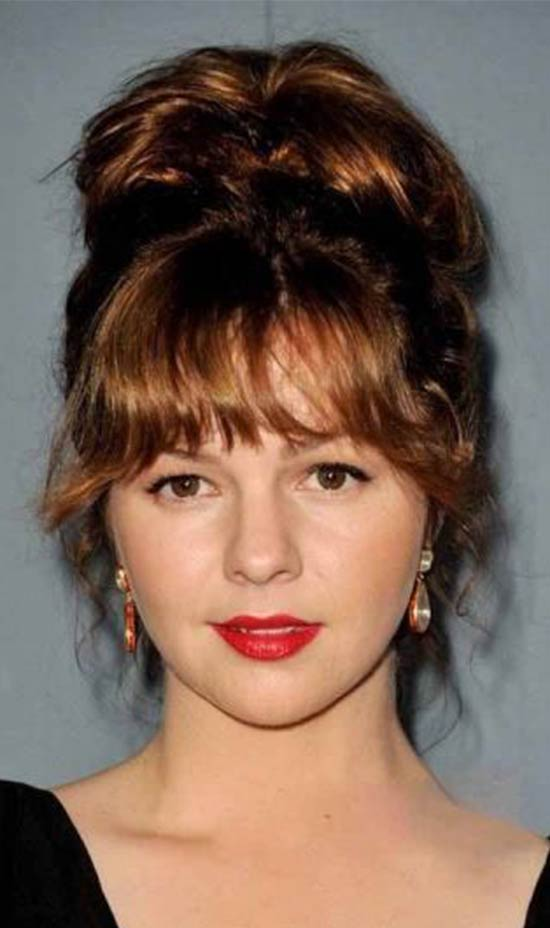 Amber Tamblyn Updo-Hairstyle-with-Bangs