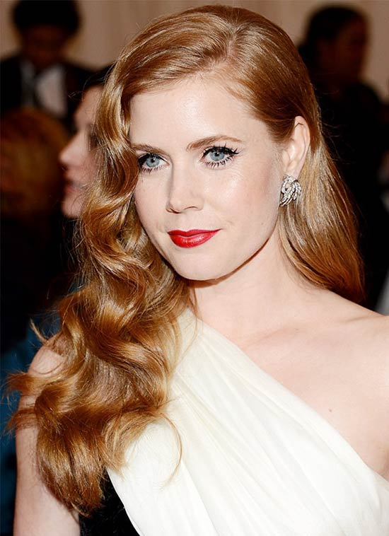 Amy Adams Big Waves Hairstyle