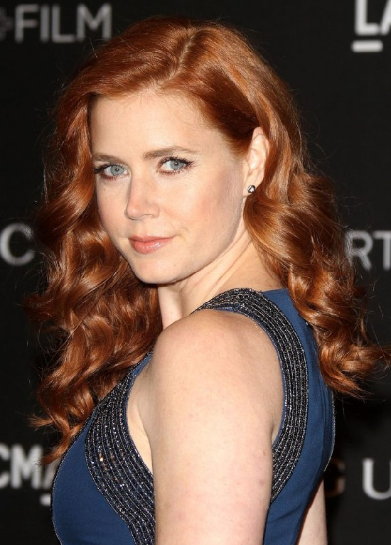 Amy Adams Side Swept Curly Hair