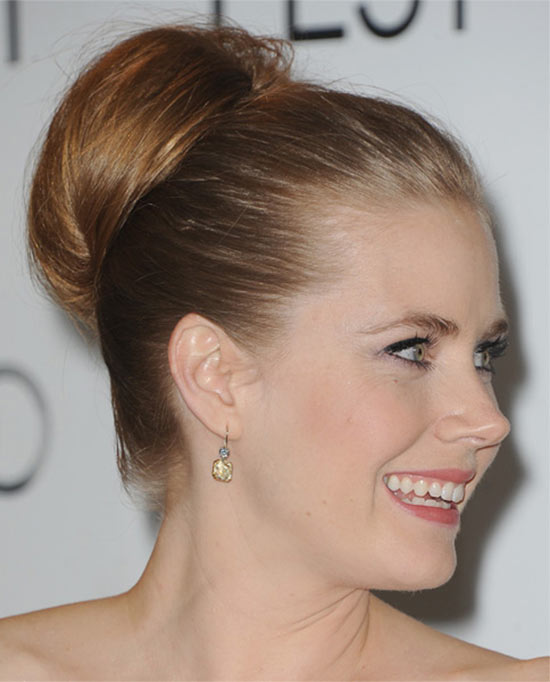 Amy Adams bun hairstyle