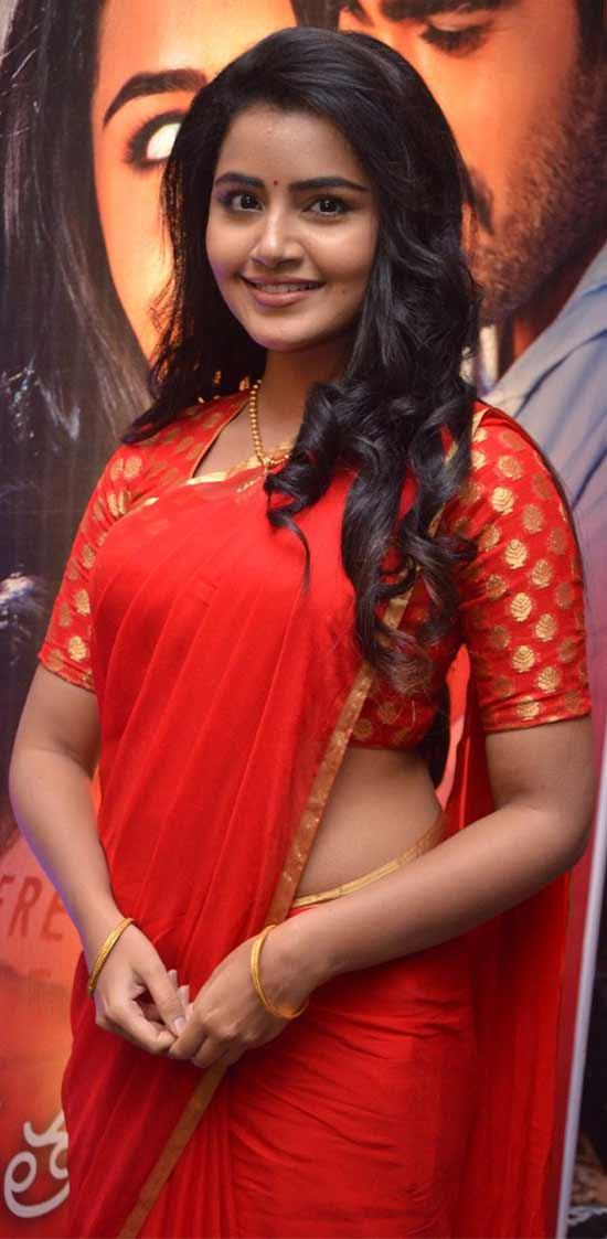Anupama parameswaran In Red Saree