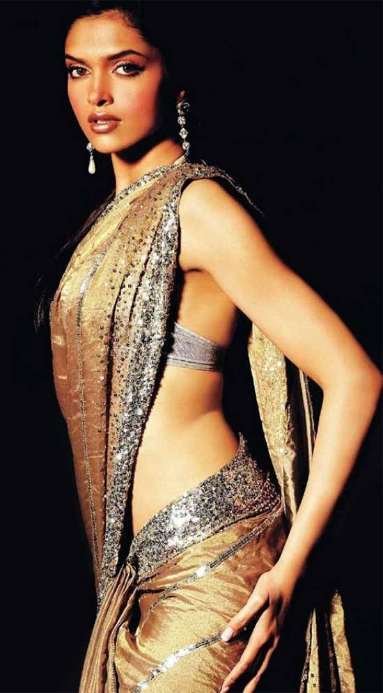 Deepika-Padukone-Low-Waist-Saree