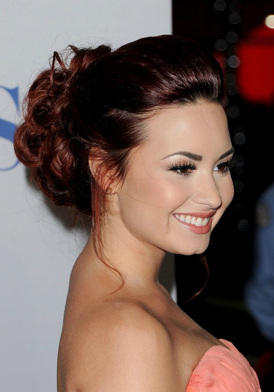 Demi Lovato Long Updo