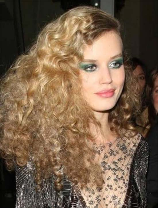 Georgia May Jagger Long-Curly-Disco-Hairstyles