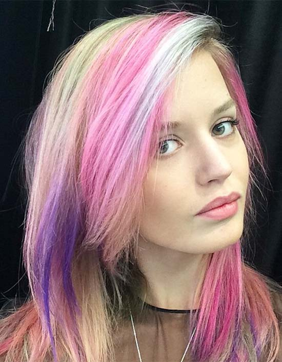 Georgia May Jagger Rainbow hair