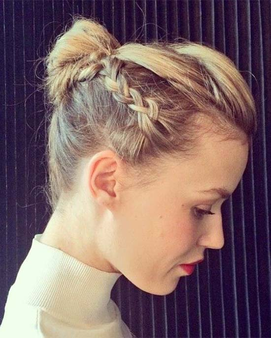Georgia May Jagger cool-and-casual-braided-bun