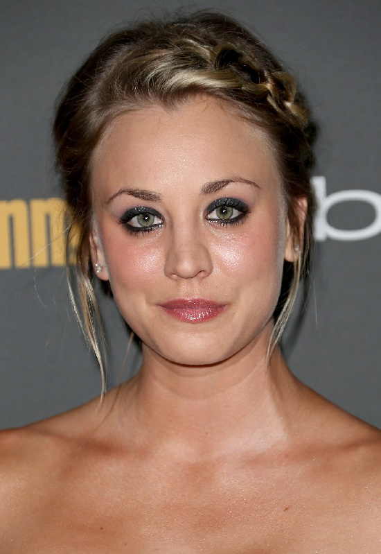Kaley Cuoco Braided Updo