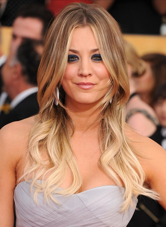 Kaley Cuoco Long Layered Hairstyle