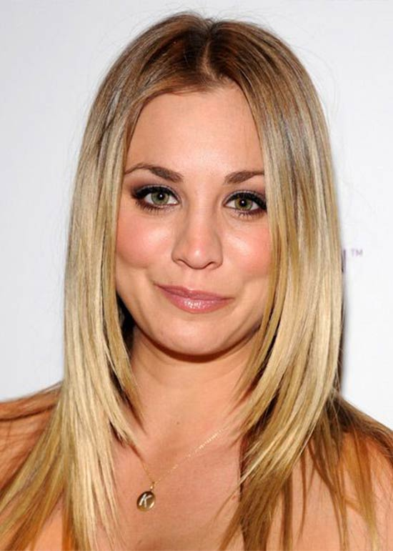 Kaley Cuoco Long-Straight-Formal