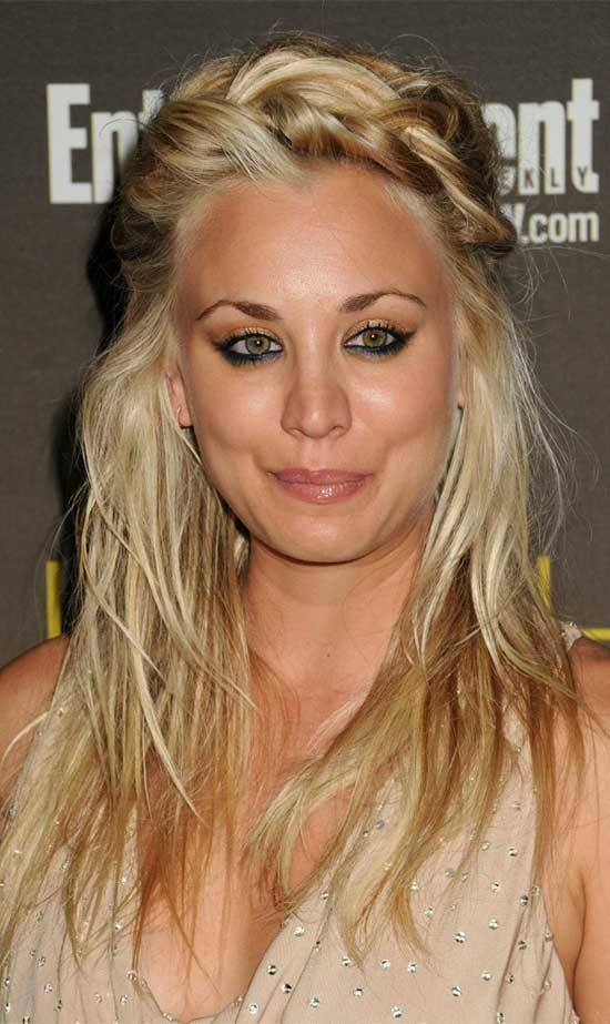 Kaley Cuoco Long Updo Hairstyles