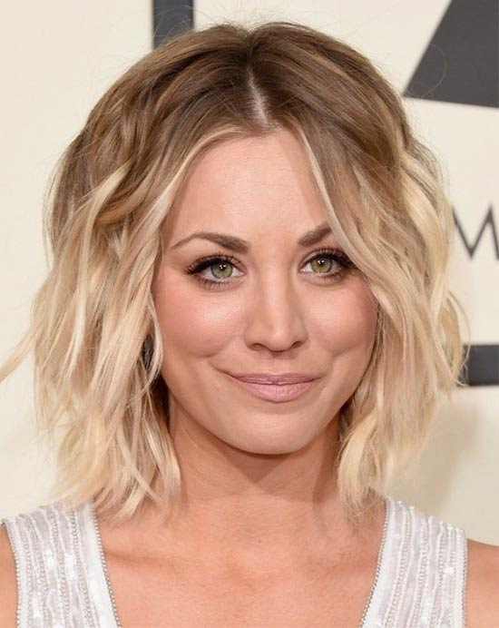 Kaley Cuoco messy-ombre-waves