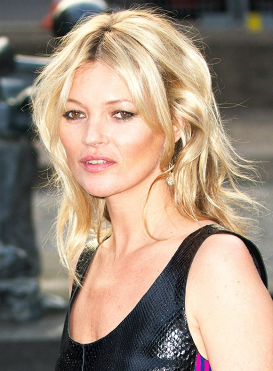 Kate Moss Medium Layered Hairstyle