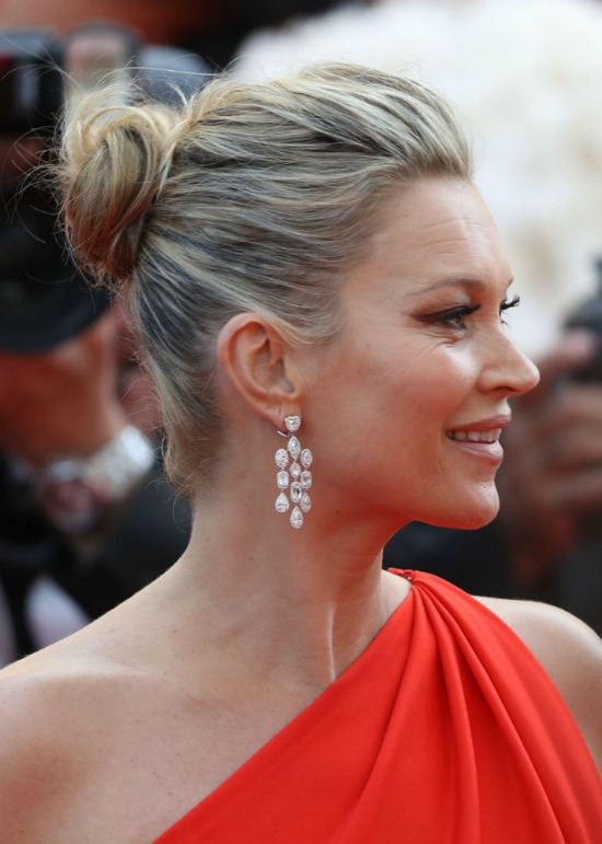 Kate Moss Messy Bun