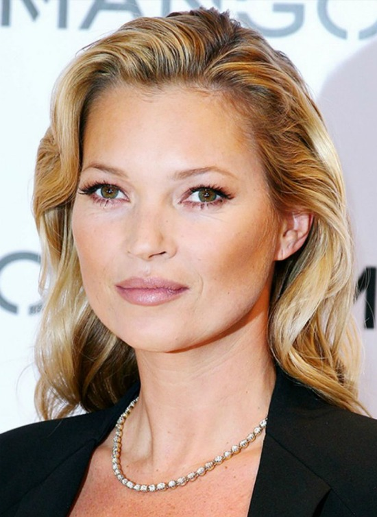 Kate Moss Shoulder Length Hairstyle