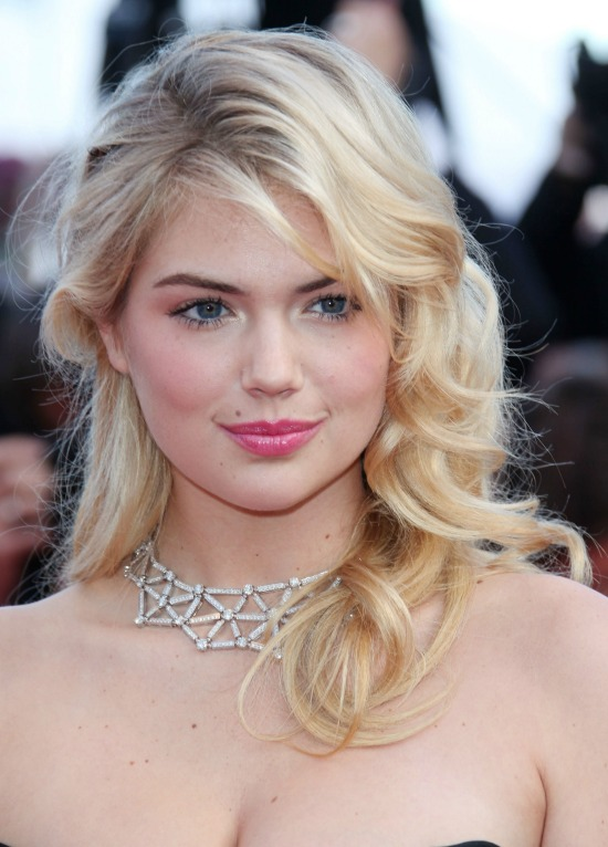 Kate Upton Curly Blonde Prom Hairstyle