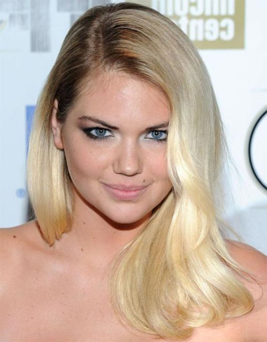 Kate Upton Deep Side Part hair